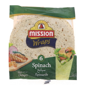 Mission Tortilla Wraps With Spinach 420g