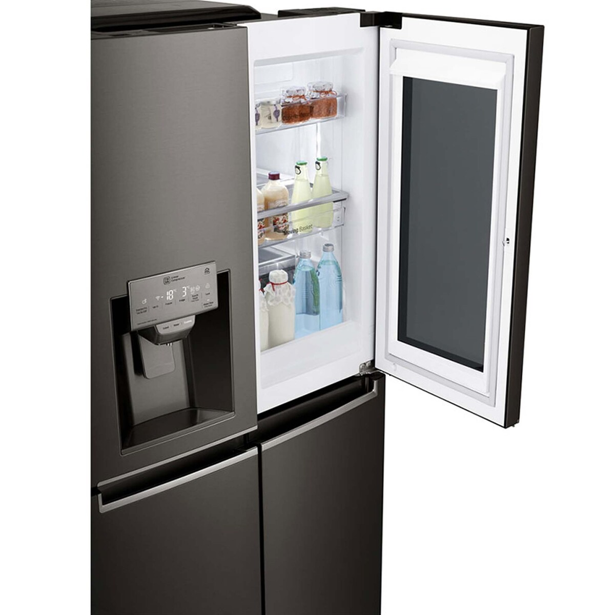 LG Instaview Door In Door Side by Side Refrigerator GR-X39FTKHL 716LTR,  Hygiene FRESH+™, ThinQ
