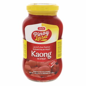 Lulu Pinoy Lasa Sugar Palm Fruit Red In Syrup 340g