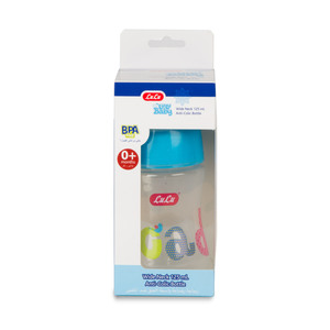 Lulu Baby Anti Colic Bottle Wide Neck 125ml Assorted Color 1pc