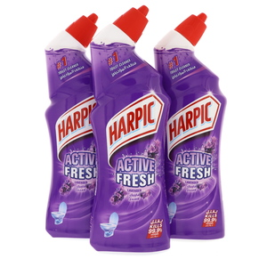 Harpic Toilet Cleaner Active Fresh Lavender 3 x 750ml