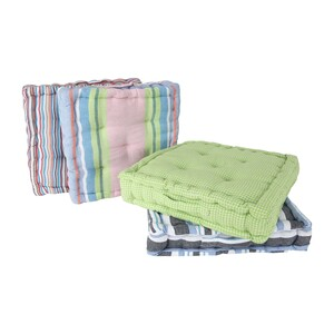Homewell Box Cushion 45x45cm 1pc Assorted Colors & Designs