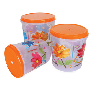 Mishti Rice Container RPB-001 3pcs Assorted Colors