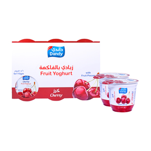 Dandy Fruit Yoghurt Cherry 6 x 110g