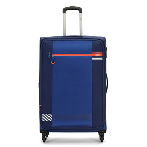Skybags 4Wheel Soft Trolley Vybe 58cm Azure Blue