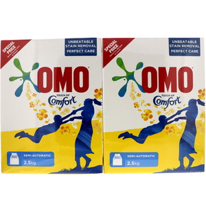 OMO Top Load Laundry Detergent Powder With Comfort 2 x 2.5kg