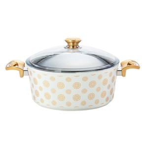 Fatafeat Granite Deep Casserole with Lid 30cm FT-30DCW