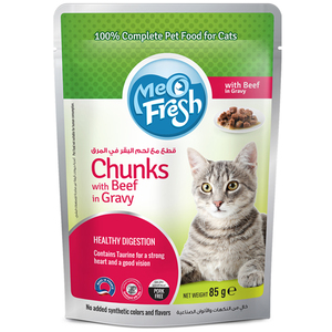 Meo Fresh Chunks with Beef in Gravy 85g