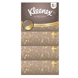 Kleenex Ultra Soft Gentle Care Facial Tissue 5 x 96pcs