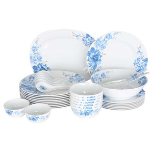 Lulu Melamine Dinner Set 34pcs Rose