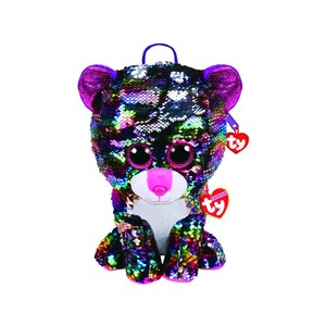 Fashion Sequin Leopard Dot Backpack Plush Toy B-P 95024