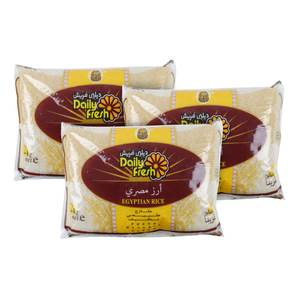 Daily Fresh Egyptian Rice 3 x 2kg