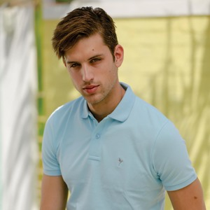 Eten Men's Basic Polo Tees Short Sleeve Corydalis Blue