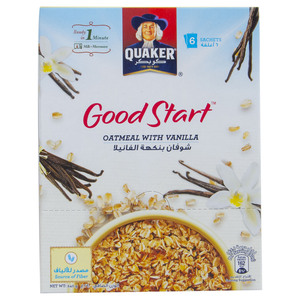 Quaker Good Start Oatmeal With Vanilla 6 x 40g