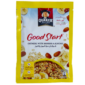 Quaker Good Start Oatmeal With Banana And Almond 40g