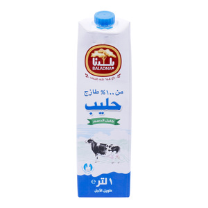 Baladna Full Fat Long Life Milk 1Litre