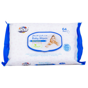 Wow Baby Wipes Mild Fragrance 64pcs