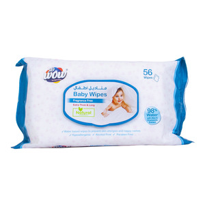 Wow Baby Wipes Fragrance Free 56pcs