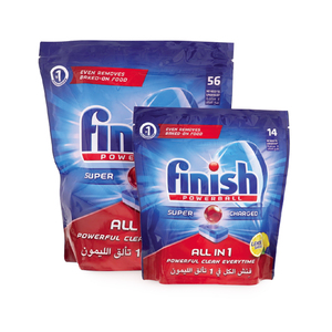 Finish All In One Powerball Lemon For Dishwashers 56pcs + 14pcs