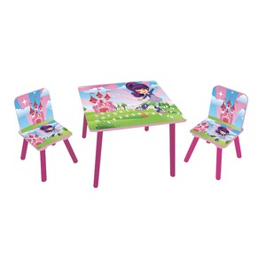 Maple Leaf Home Kids Table + 2 Chair 8001 Pink