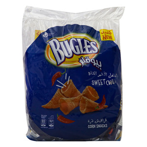 Bugles Corn Snacks Sweet Chili 18 x 18g