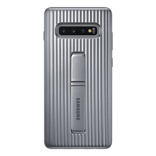 Samsung Galaxy S10 Plus Protective stand Cover Silver RG975CS