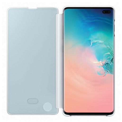 Samsung Galaxy S10 Plus Clear View Book-Cover White ZG975CW