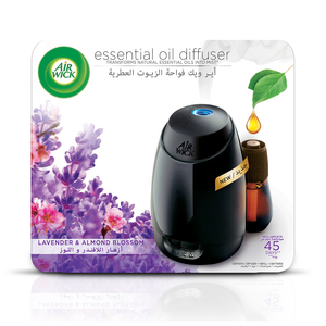 Air Wick Air Freshener Essential Oil Diffuser Kit Lavender & Almond Blossom 20ml