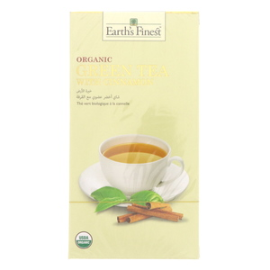 Earth's Finest Organic Green Tea With Chinnamon 25 pcs