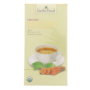 Earth's Finest Organic Green Tea With Turmeric 25 pcs
