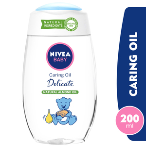 Nivea Baby Delicate Caring Oil Natural Almond Oil 200ml