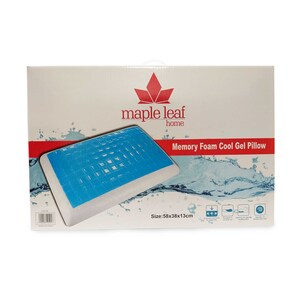 Maple Leaf Memory Foam Gel Pillow White Color 38x58x13cm
