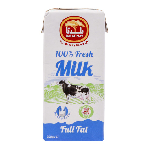 Baladna UHT Milk Full Fat 200ml