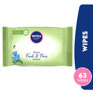 Nivea Baby Fresh And Pure Aloe Vera Wipes 63Wipes