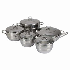 Amboss Stainless Steel Cookware Set 10pcs