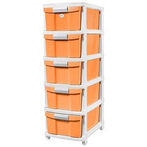 JCJ Drawer 5Tier with Wheel 2525 Assorted Color