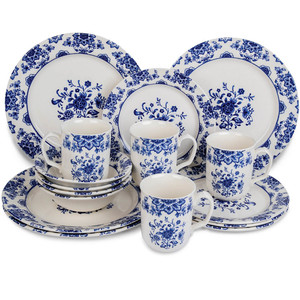 Claytn Dinner Set Delft Floral 16pcs