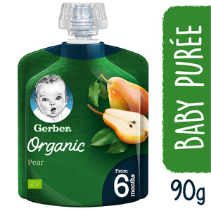Gerber Baby Food Organic Pear From 6 Months 90g