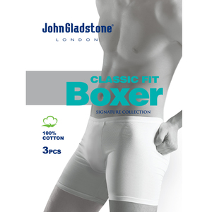 John Gladstone Men's Under Shorts 3Pc Pack White Medium