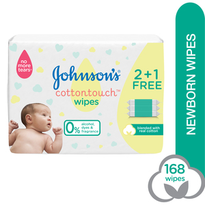 Johnson's Wipes Cottontouch Extra Sensitive 168pcs