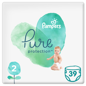 Pampers Pure Protection Diapers Size 2 4-8kg 39pcs