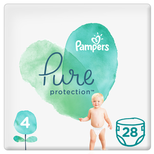 Pampers Pure Protection Diapers Size 4 28 Count