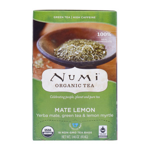 Numi Organic Mate Lemon Green Tea 18pcs
