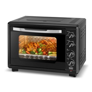 Black+Decker Double Glass Toaster OvenTRO55RDGB5 55Ltr