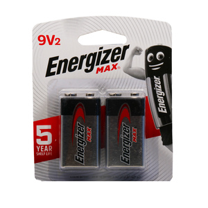 Energizer Max 9V Battery 2pcs