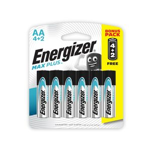 Energizer Max Plus AA Alkaline Battery 4+2