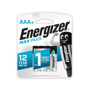 Energizer Max Plus AAA Battery 4pcs