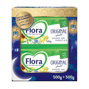 Flora Original Vegetable Oil Spread 2 x 500g