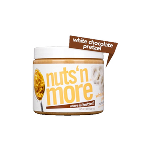 Nuts 'n More White Chocolate Pretzel High Protein Peanut Butter 454g