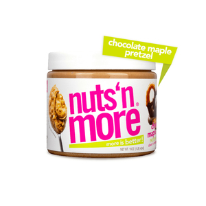 Nuts 'n More Chocolate Maple Pretzel High Protein Peanut Butter Spread 454g